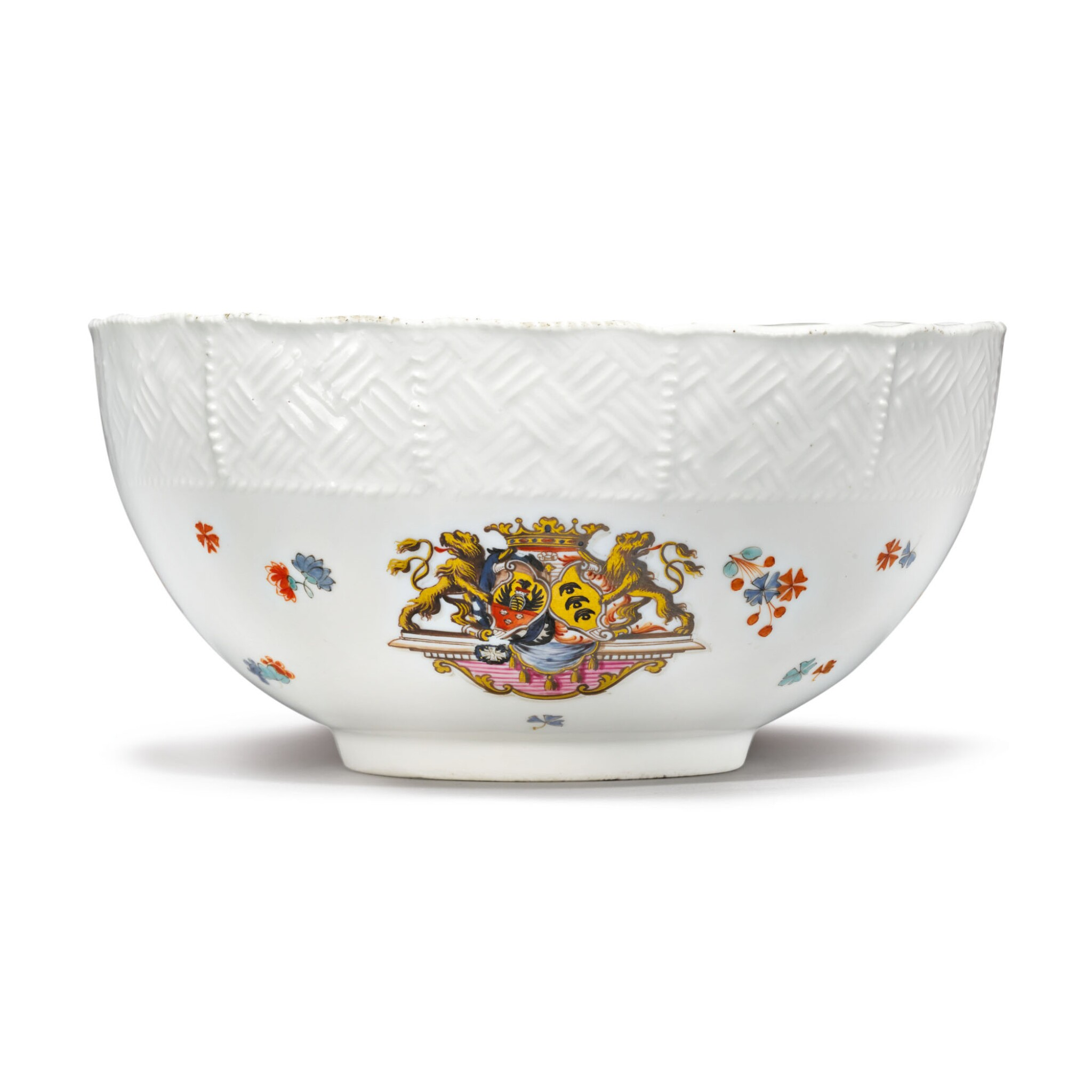 View full screen - View 1 of Lot 388. A MEISSEN ARMORIAL WASTE-BOWL FROM THE 'SULKOWSKI SERVICE' CIRCA 1738.
