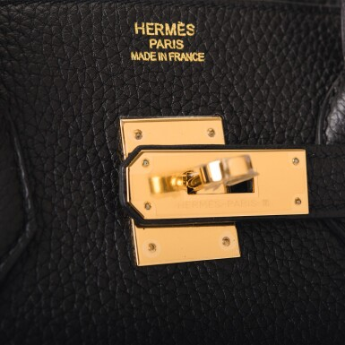 Hermès Black Birkin 35cm of Togo Leather with Gold Hardware