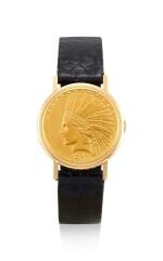 VACHERON CONSTANTIN | REFERENCE 7322, A YELLOW GOLD TEN DOLLAR COIN WATCH, CIRCA 1970