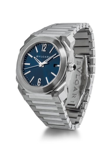 BULGARI | OCTO, REF BGO 38 S STAINLESS STEEL AUTOMATIC WRISTWATCH WITH DATE CIRCA 2016