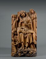 ENGLISH, PROBABLY NOTTINGHAM, 15TH CENTURY | RELIEF WITH THE LAMENTATION OVER THE DEAD CHRIST