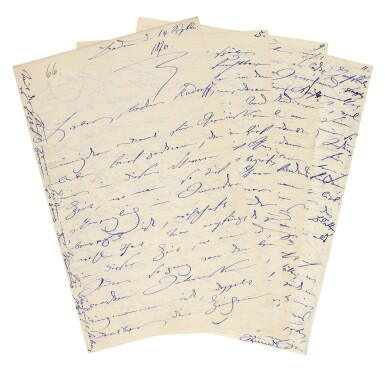 View 3. Thumbnail of Lot 35. Clara Schumann. 215 unpublished letters to the composer and environmentalist Ernst Rudorff, with his replies, 1858-1896.