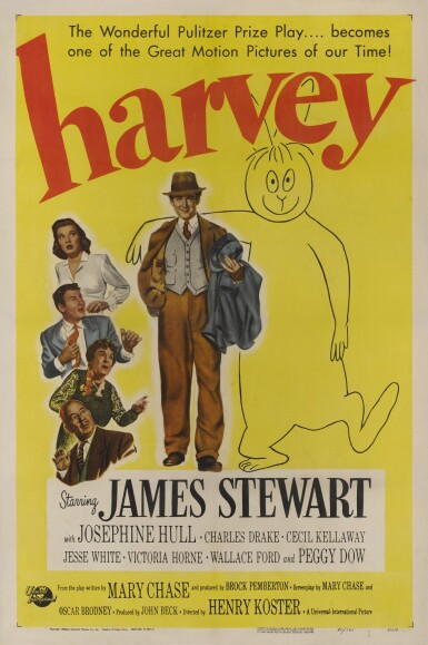HARVEY (1950) POSTER, US