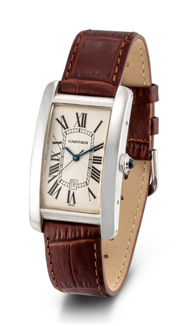 View 2. Thumbnail of Lot 610. CARTIER | TANK AMÉRICAINE, REFERENCE 1741 A WHITE GOLD WRISTWATCH, CIRCA 1990.