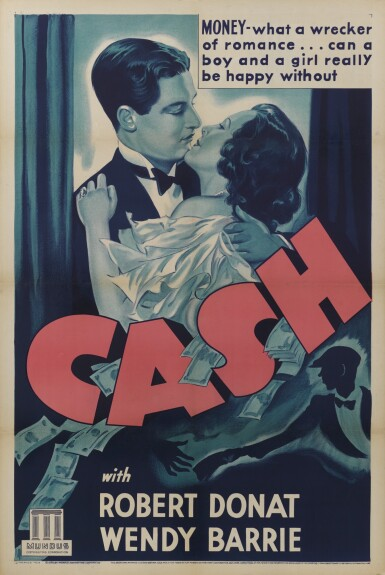 CASH/FOR LOVE OR MONEY (1933) POSTER, US