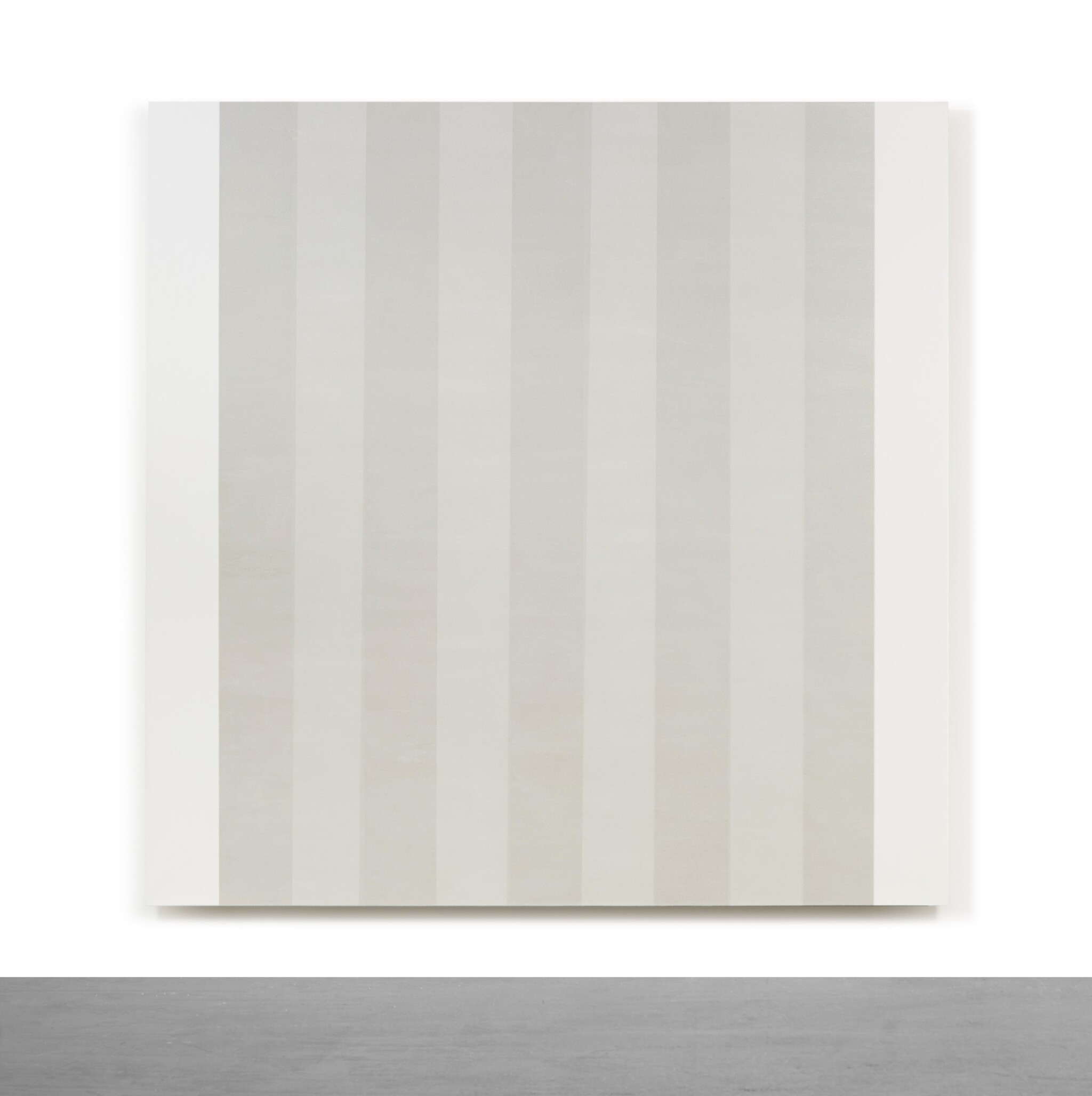 View full screen - View 1 of Lot 24. Untitled (White Multiband with White Sides, Beveled).