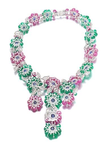 View 3. Thumbnail of Lot 653. Michele della Valle   Gem set and diamond necklace   Michele della Valle   寶石配鑽石項鏈.