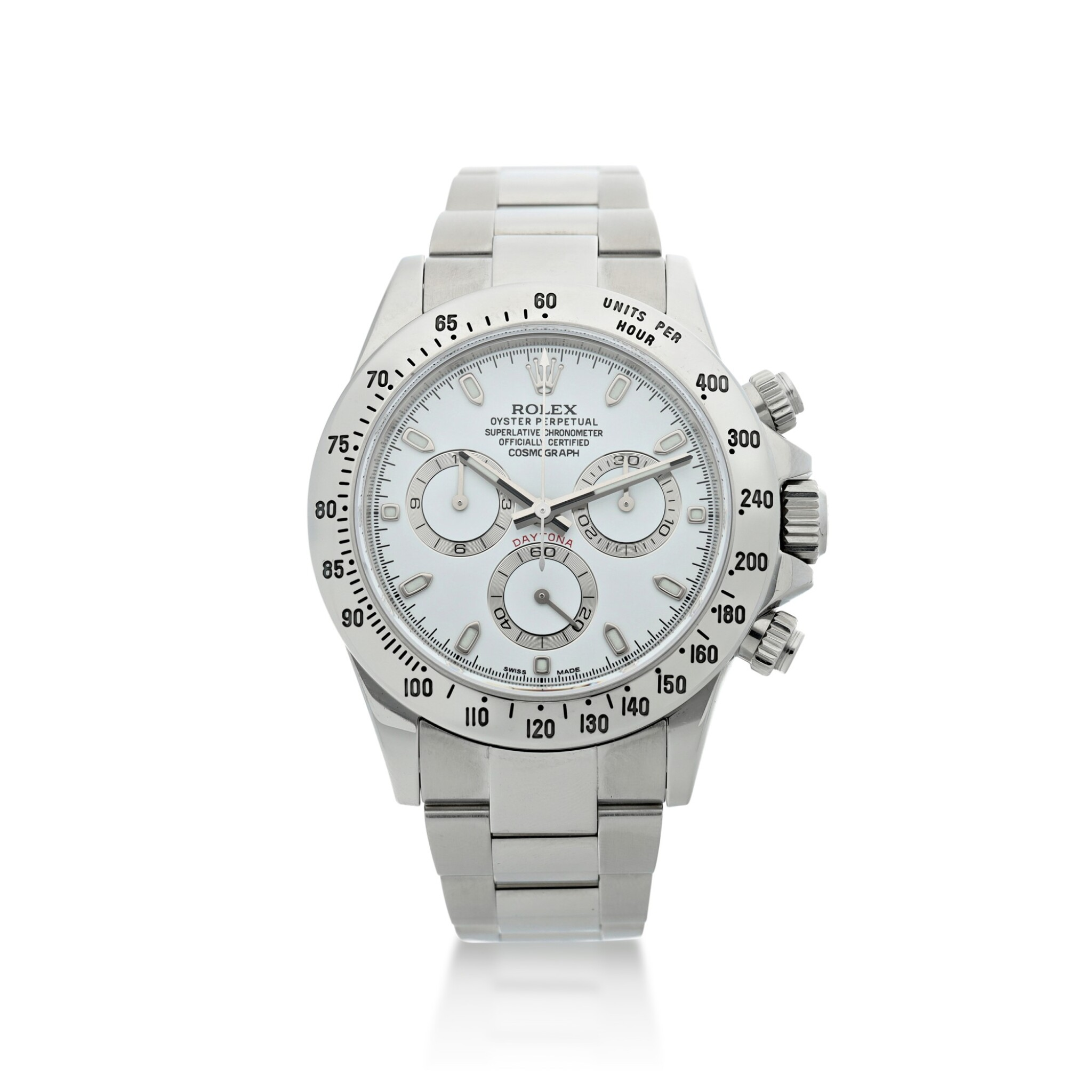 View full screen - View 1 of Lot 4. ROLEX | REFERENCE 116520 DAYTONA A STAINLESS STEEL AUTOMATIC CHRONOGRAPH WRISTWATCH WITH BRACELET, CIRCA 2012.