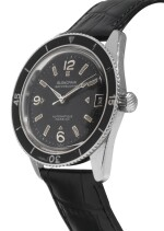 BLANCPAIN | FIFTY FATHOMS BATHYSCAPHE STAINLESS STEEL WRISTWATCH WITH DATE CIRCA 1960