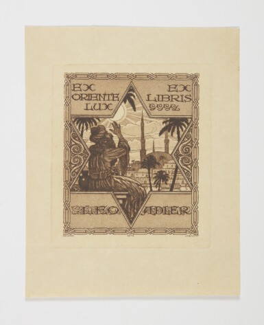 View 3. Thumbnail of Lot 27. AN IMPORTANT COLLECTION OF JUDAICA BOOKPLATES, [EUROPE, LAND OF ISRAEL, AND NORTH AMERICA: LATE 19TH-20TH CENTURIES].