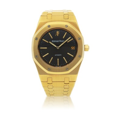 View 1. Thumbnail of Lot 375. ROYAL OAK JUBILEE, REF 14802BA.OO.0944BA.01 LIMITED EDITION YELLOW GOLD WRISTWATCH WITH DATE AND BRACELET CIRCA 1992.