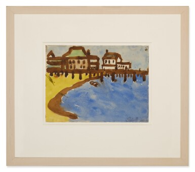 View 2. Thumbnail of Lot 1509. LESTER F. JOHNSON   UNTITLED (PROVINCETOWN HARBOR).