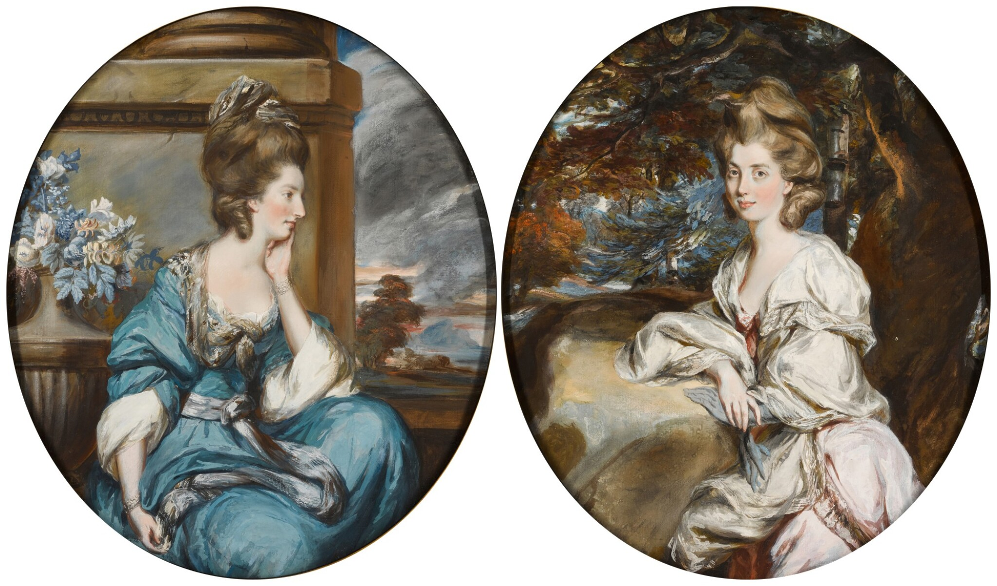 View full screen - View 1 of Lot 38. DANIEL GARDNER     PORTRAITS OF THE HON. MARY SHUTTLEWORTH (D. 1777); AND HER SISTER, ANNA MARIA, SUO JURE 9TH BARONESS FORRESTER (D. 1808).