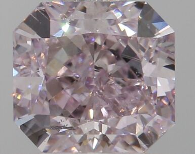 A 0.80 Carat Fancy Brownish Purplish Pink Cut-Cornered Rectangular Diamond, SI2 Clarity
