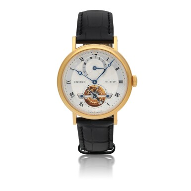 BREGUET | CLASSIQUE TOURBILLON 5 DAYS, REF 5317BA/12/9V6  YELLOW GOLD TOURBILLON WRISTWATCH WITH 5-DAY POWER RESERVE INDICATION CIRCA 2006