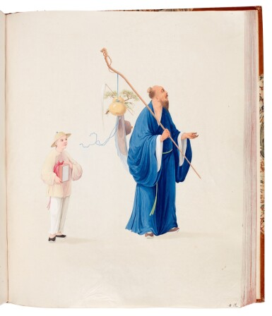 View 3. Thumbnail of Lot 166. China, Canton School | A superb album of 141 watercolours, c.1800.