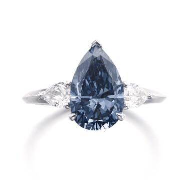 View 1. Thumbnail of Lot 157.  Graff | Fine fancy deep blue diamond ring | 格拉夫 | 深彩藍色鑽石戒指.