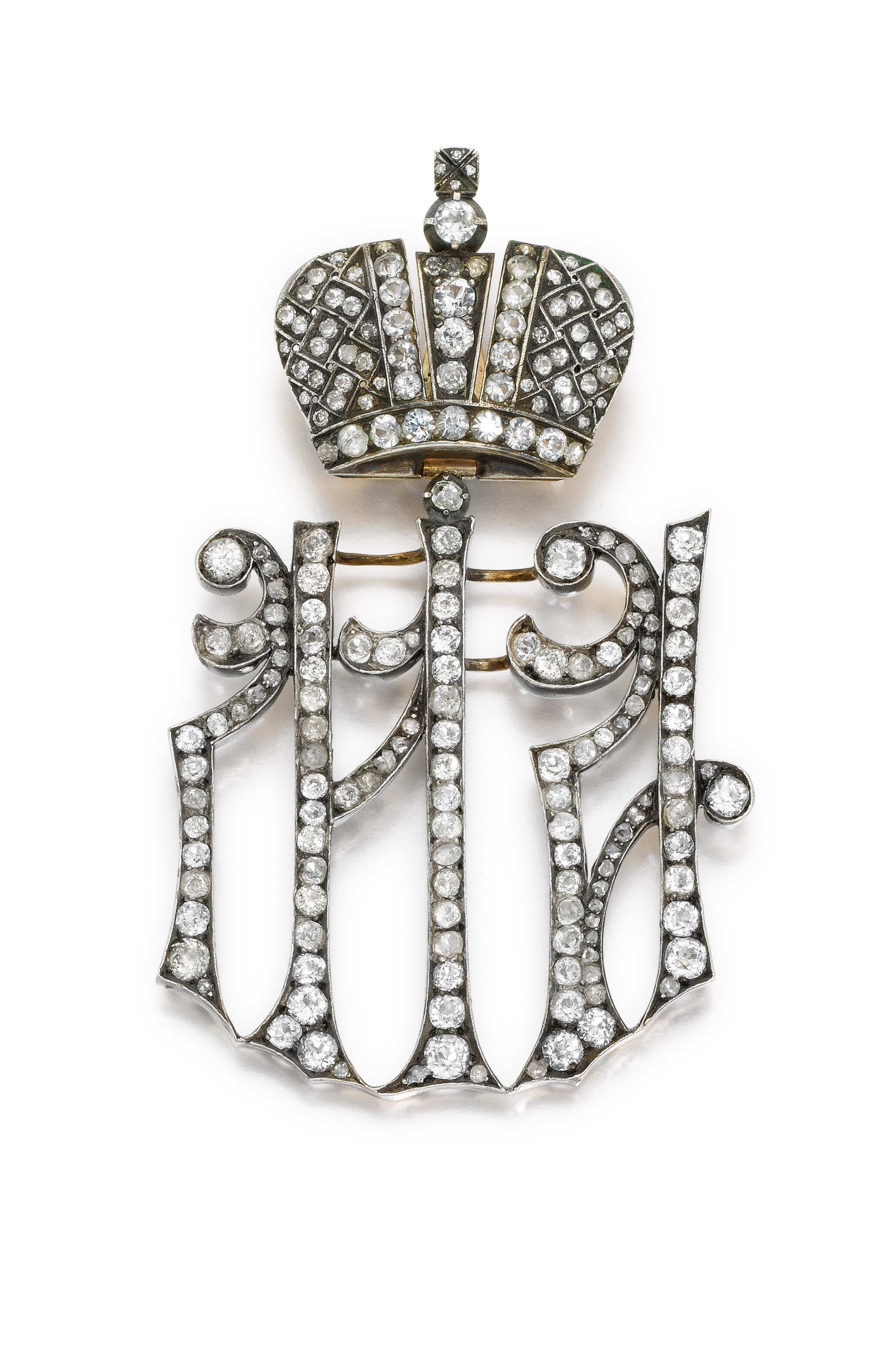 A silver-gilt Maid of Honour cypher