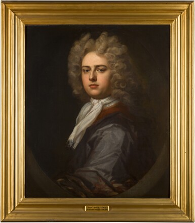 View 2. Thumbnail of Lot 136. Portrait of the Hon. Thomas Coke (1674-1727) of Melbourne Hall, bust-length.