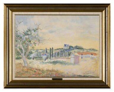 View 2. Thumbnail of Lot 92. JEAN DUFY | ENVIRONS DE PREUILLY-SUR-CLAISE.