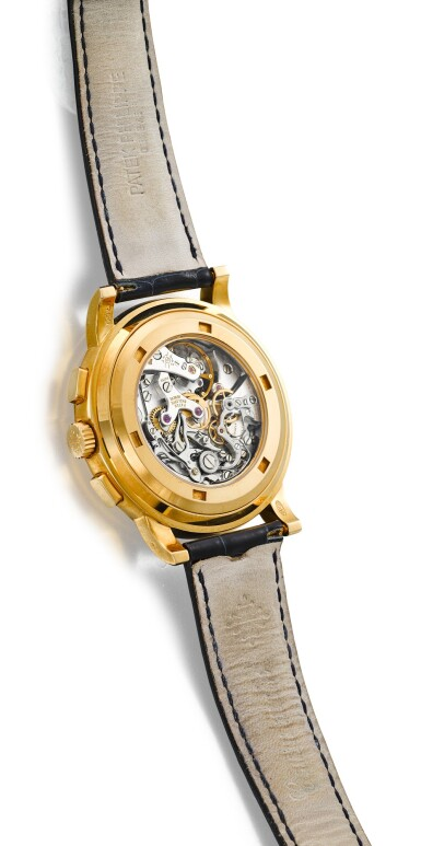 View 3. Thumbnail of Lot 161. PATEK PHILIPPE | REFERENCE 5070,  A YELLOW GOLD CHRONOGRAPH WRISTWATCH, CIRCA 1999.