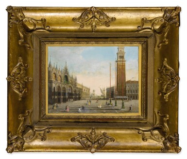 View 2. Thumbnail of Lot 653. View of St. Mark's Square with the Piazzetta and San Giorgio Maggiore in the background.