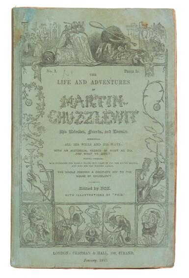 Dickens, Martin Chuzzlewit, 1843-44, in the original 19/20 parts