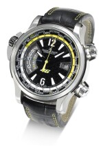 JAEGER-LECOULTRE | MASTER COMPRESSOR EXTREME W-ALARM 46 VALENTINO ROSSI REFERENCE 150.T.42 A LIMITED EDITION TITANIUM AUTOMATIC WORLD TIME WRISTWATCH WITH ALARM AND DATE CIRCA 2010