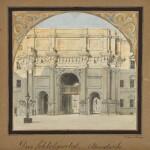 Das Schloßportal, Abendseite (West elevation of the Palace Gate)