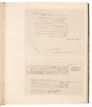 View 2. Thumbnail of Lot 92. Charles Doughty | Documents épigraphiques recueillis dans le nord de l'Arabie, Paris, 1884, later half cloth.