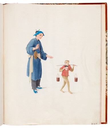 View 5. Thumbnail of Lot 166. China, Canton School | A superb album of 141 watercolours, c.1800.