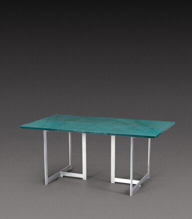 View 1. Thumbnail of Lot 191. Extendable console table.