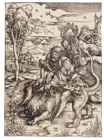 Samson Fighting with the Lion (B. 2; M., Holl. 107)