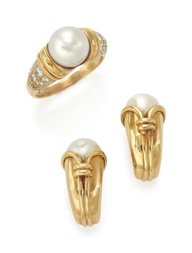 CULTURED PEARL AND DIAMOND DEMI-PARURE  (DEMI-PARURE CON PERLE COLTIVATE E DIAMANTI) , BULGARI