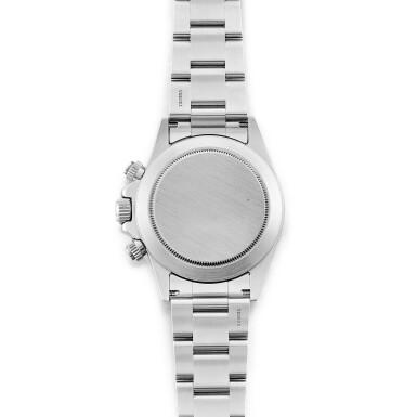 View 3. Thumbnail of Lot 2147. Rolex | Cosmograph Daytona, Reference 16520, A stainless steel chronograph wristwatch with bracelet, Circa 1999 | 勞力士 | Cosmograph Daytona 型號16520    精鋼計時鏈帶腕錶,約1999年製.