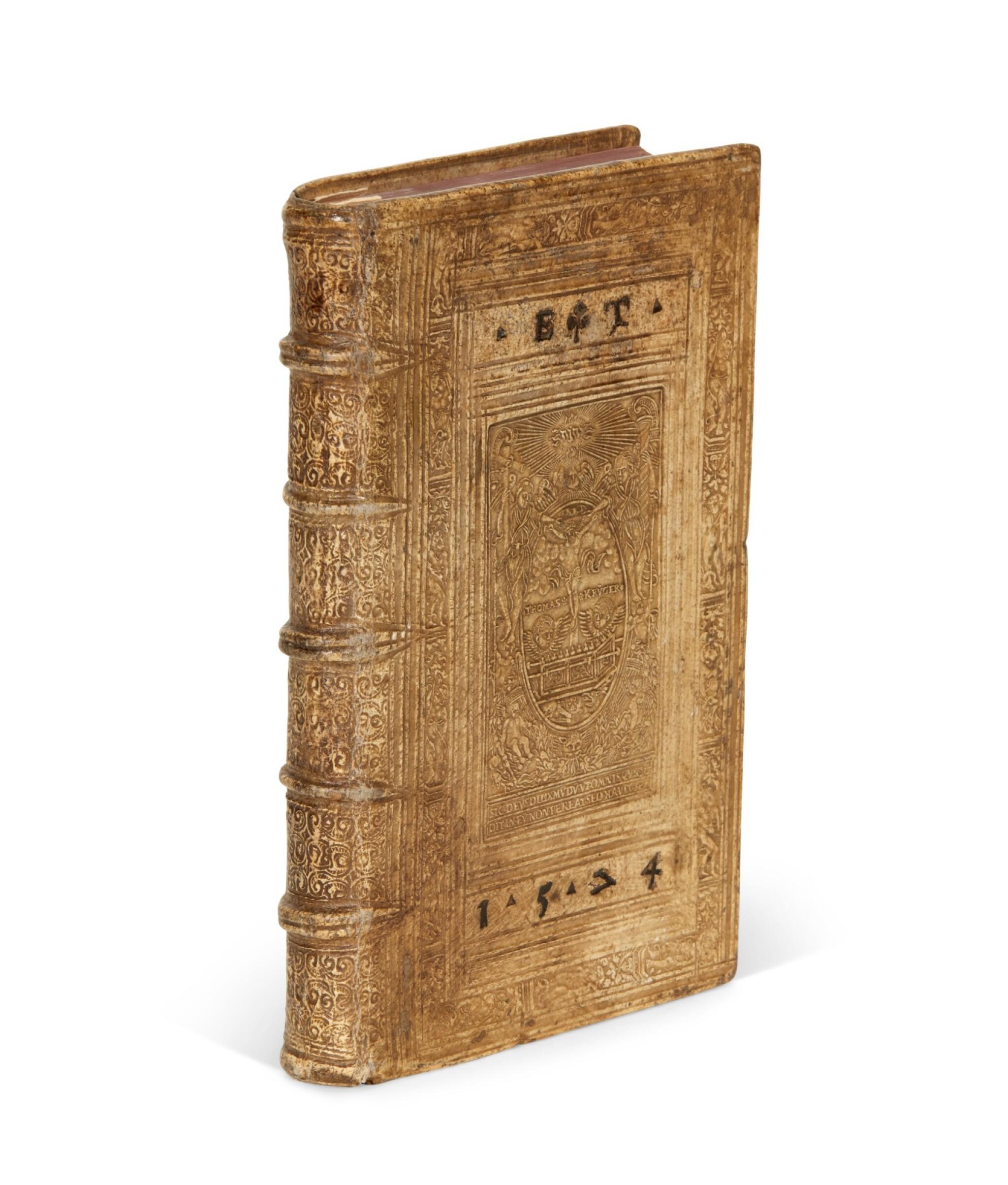 View full screen - View 1 of Lot 232. Serres, II. Partis commentariorum de statu religionis, [Geneva], 1573, pigskin binding by Thomas Krüger.
