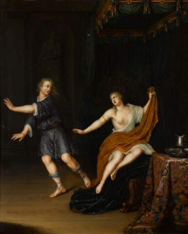 FRANS VAN MIERIS THE YOUNGER | Joseph and Potiphar's wife