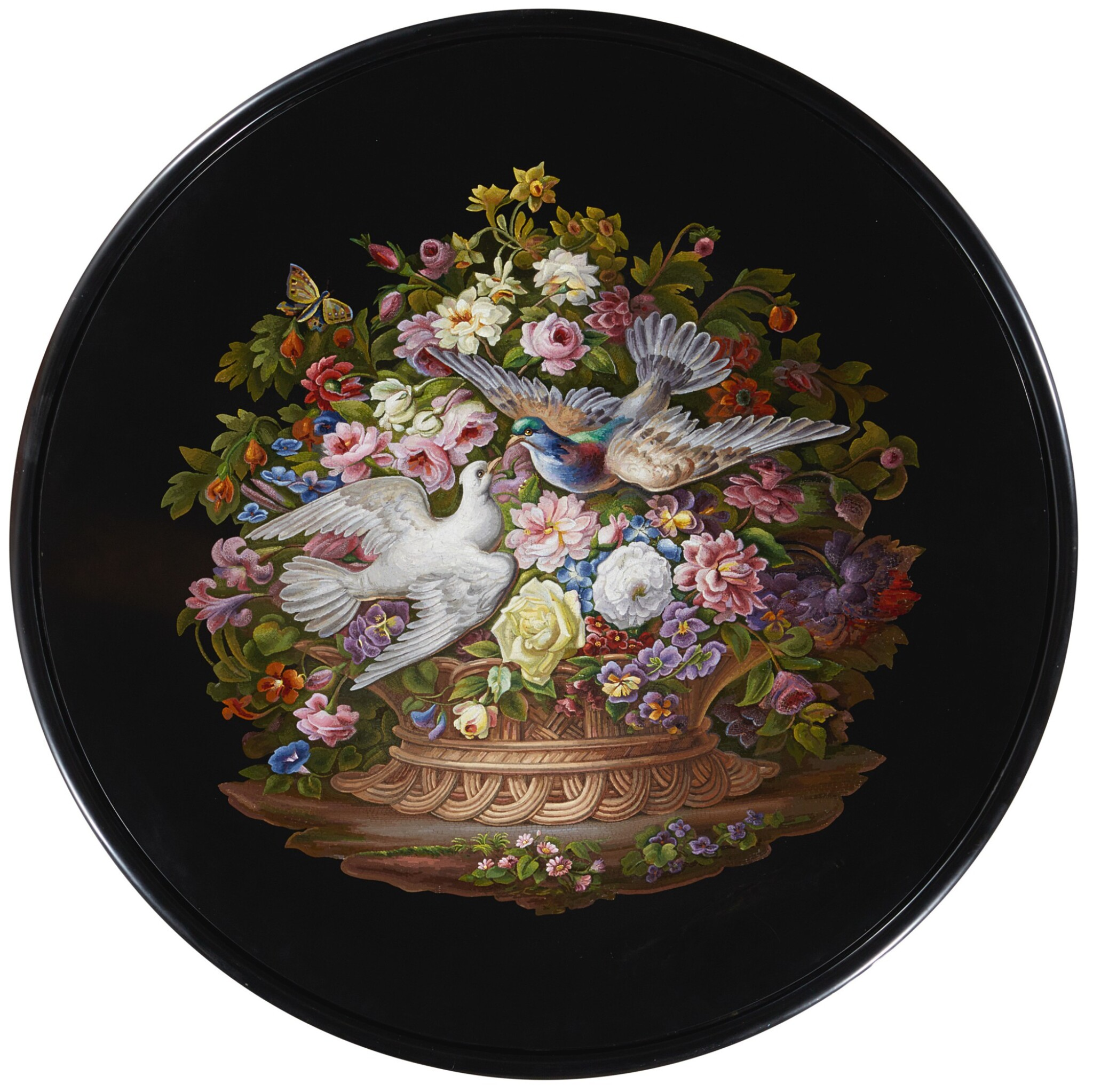 AN ITALIAN MICROMOSAIC TABLE, ROME CIRCA 1825-1850