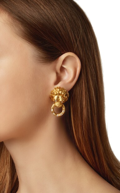 View 4. Thumbnail of Lot 21. PAIR OF GOLD AND DIAMOND EARCLIPS, VAN CLEEF & ARPELS.