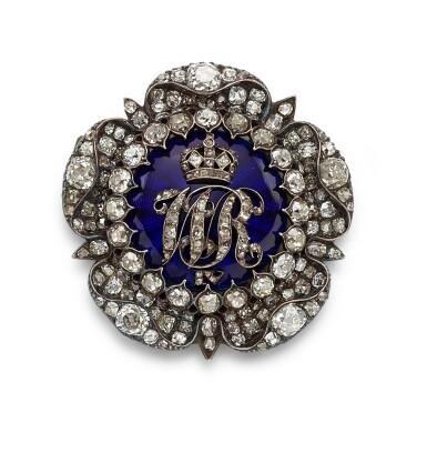 View 1. Thumbnail of Lot 9002. Diamond and Enamel Brooch, Circa 1830 | 鑽石 配 琺瑯彩 胸針,約1830年.