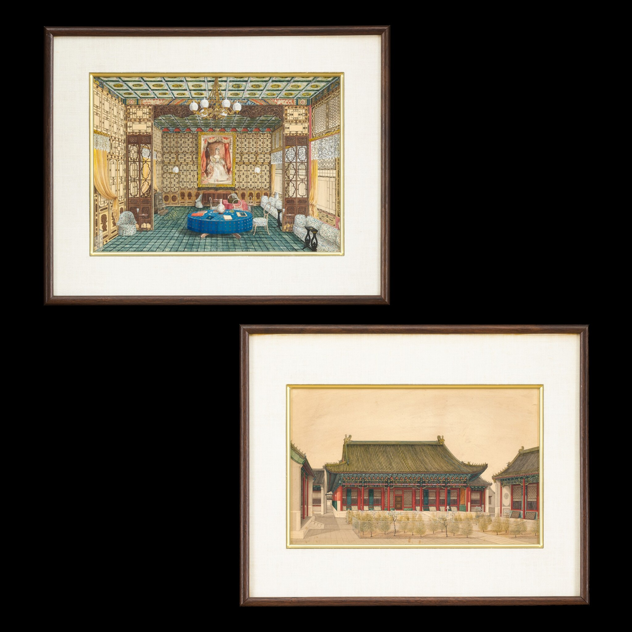 View full screen - View 1 of Lot 182. Anonymous, 1861 Two Views of the British Legation in Peking, commissioned by Frederick Bruce | 佚名 1861年   北京英國公使館二景一組兩幅   由英國外交官弗雷德里克.布魯斯委託而製.