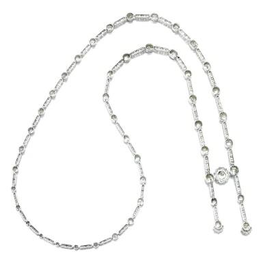 View 3. Thumbnail of Lot 36. Diamond necklace, circa 1900.