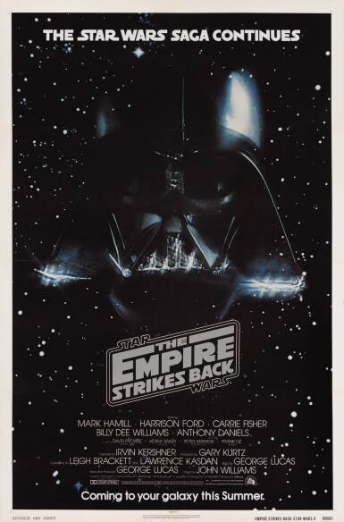 THE EMPIRE STRIKES BACK, US ADVANCE POSTER, 1980