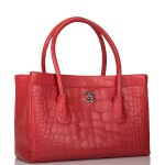 Chanel Rose Pink Cerf Tote of Matte Alligator with Aged Ruthenium Hardware