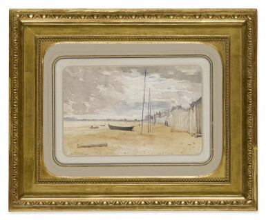 View 2. Thumbnail of Lot 298. FRENCH SCHOOL, EARLY 20TH CENTURY | VIEW OF THE BEACH AT LION-SUR-MER.