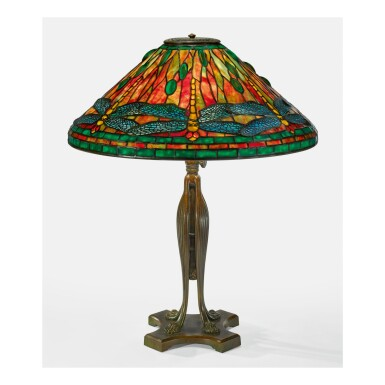 "TIFFANY STUDIOS | ""DRAGONFLY"" TABLE LAMP"