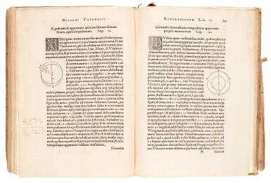 View 4. Thumbnail of Lot 11. Copernicus | De revolutionibus orbium coelestium, Nuremberg, 1543, later boards, Rostock duplicate.