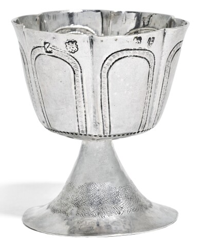 A COMMONWEALTH SILVER WINE CUP, UNIDENTIFIED DEVICE, LONDON, 1654