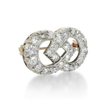 DIAMOND BROOCH, LATE 19TH CENTURY