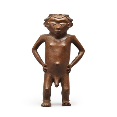 View 1. Thumbnail of Lot 182. Democratic Republic of Congo, Pende or Wongo Peoples, late 19th century   Anthropomorphic Cup .